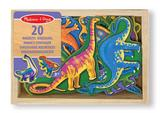 Magnetic Wooden Dinosaurs Box of 20 - Childs Animal Play Create Toy for Fridge