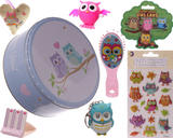 Large Cute Owl gift set in a tin for girls ideal christmas or birthday present