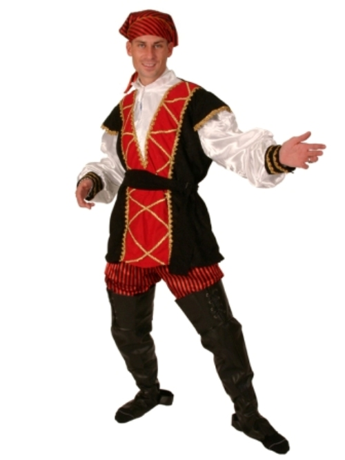 Mens Pirate Mates Costume 5 piece Buccaneer Sailor Jack Blackbeard