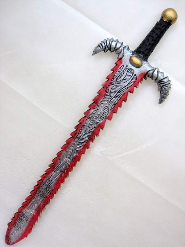Foam Sword Saw Blade Antique Lo Novelty Toy Weapon