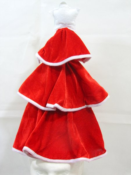 Tree Shaped Hat Plush Velvet Red Christmas Festive Xmas Nativity