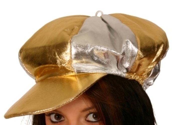 Jockey Hat Metallic Silver Gold Hat Racing Racer Horseman Horse Rider Sport