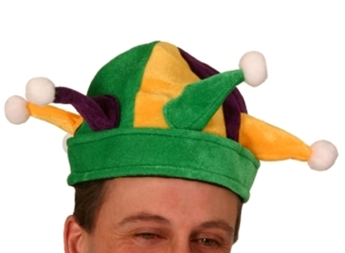Jester Hat Round with Points Felt Medieval Circus Clown Joachim