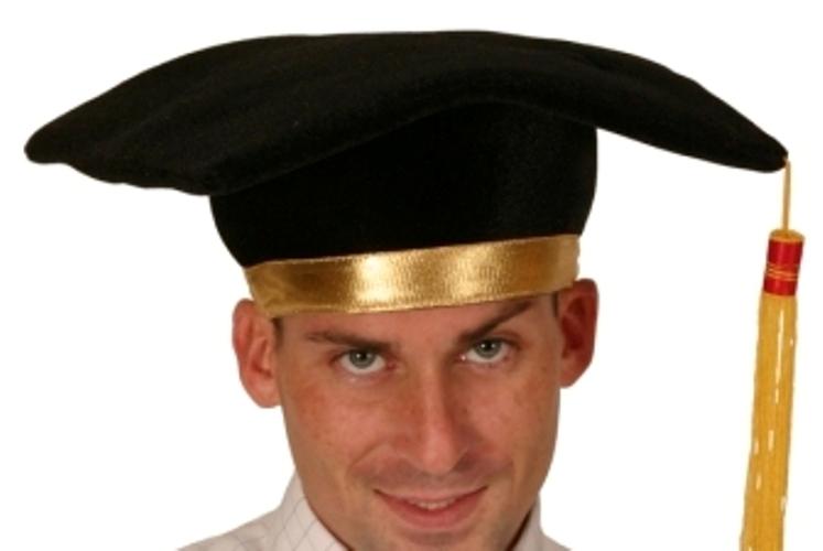 Motar Board Hat Black & Gold Tassell Teacher School Highschool Professor Educati