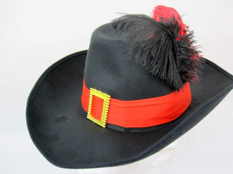 Musketeer Hat Felt One Size Fits All Athos Aramis d'Artagnan