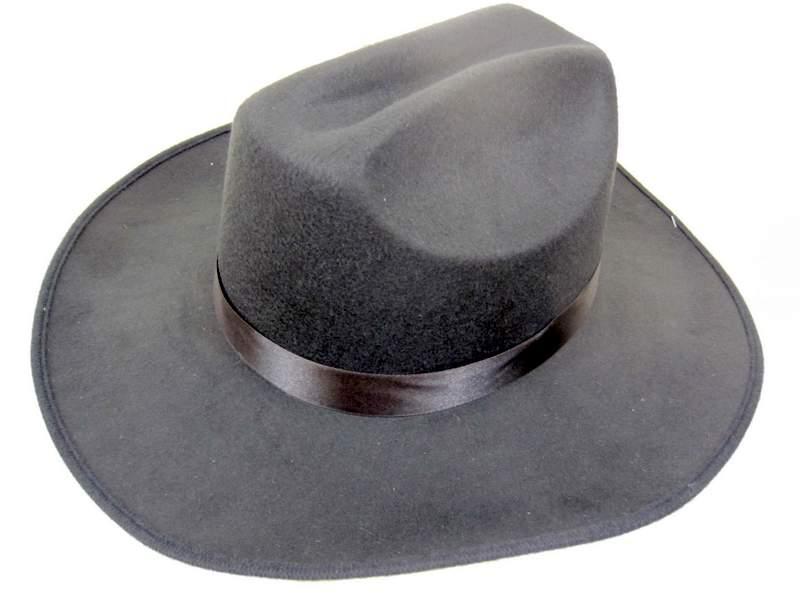 Hat Stetson Black Felt one size fits all Dallas Cowboy