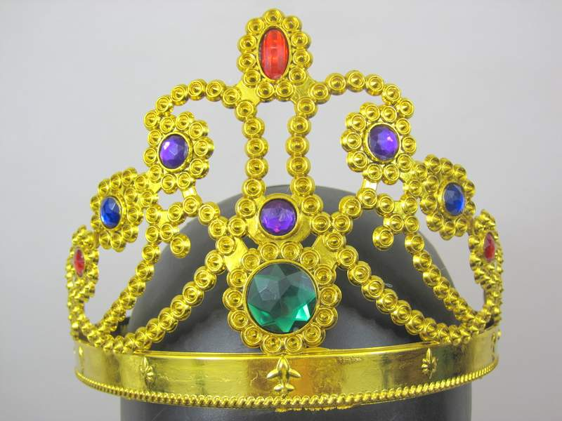 Crown Princess Plastic Hat Gold 60cm lon Royal Regal Ruler