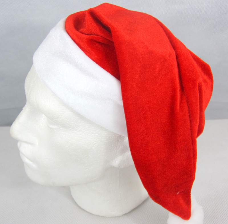 Santa Hat Velvet Red with Velvet Cuff Father Christmas