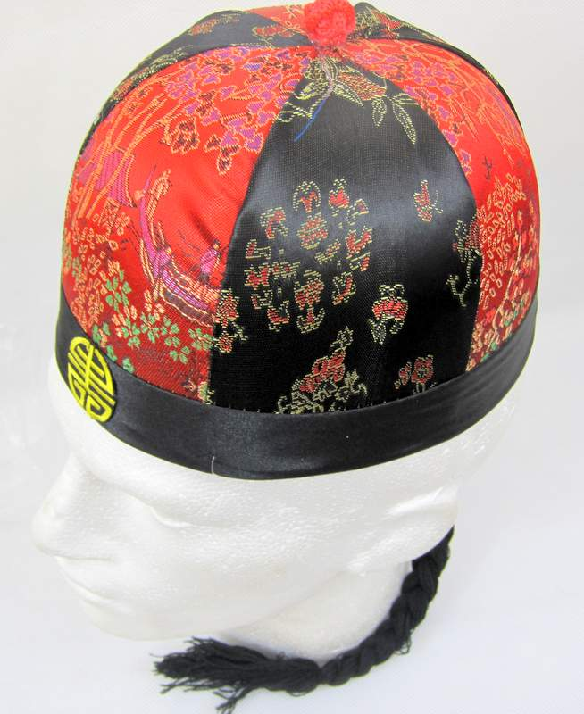 Chinese Merchant Round Hat Decorated 61 Oriental Coolie Asian Thai