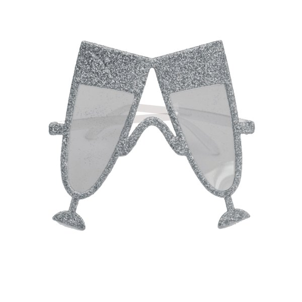 Party Glasses Glass of Champagne Silver Wedding Ascot Party