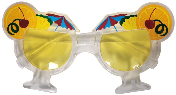Party Glasses Hawian Beach & Fun Tropical Summer