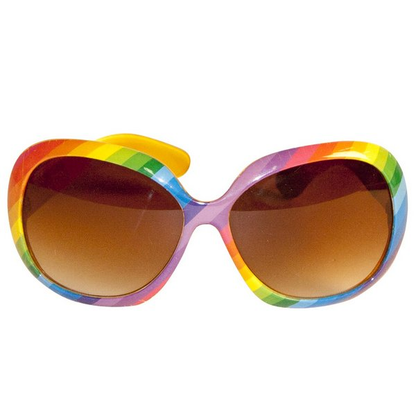 Party Glasses Rainbow Colours Retro Vintage