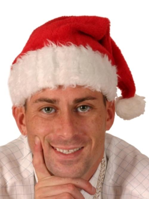 Santa Plush Hat with Plush Trim 40cm Father Christmas
