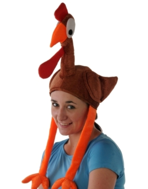 Animal Flying Turkey Hat With Legs & Win Creature Nature Zoo Farm