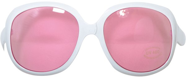 Party Glasses White Frames Pink Lense