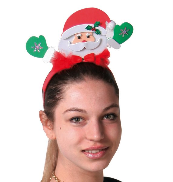 Headband Santa heads Felt Father Christmas
