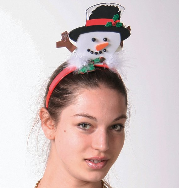 Headband Snowman Heads Felt Frozen Arctic Christmas nativity