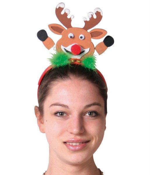 Headband Reindeer Heads Felt Christmas Animal Festive