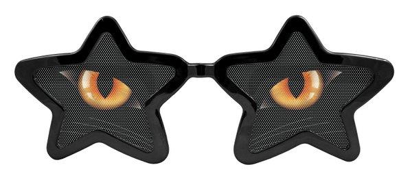 Party Glasses Cats Eyes Starshape XXL Catwoman Superhero Villian Super Hero