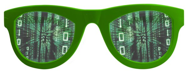 Party Glasses Matrix Lenses XXL Sci fi Computer Tech