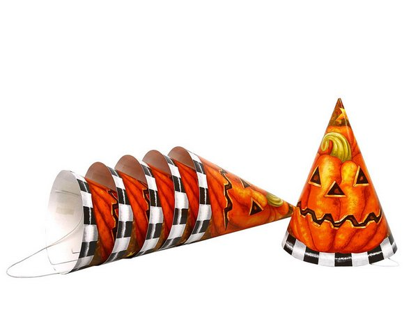 Halloween Party Hats 6S Trick Or Treat