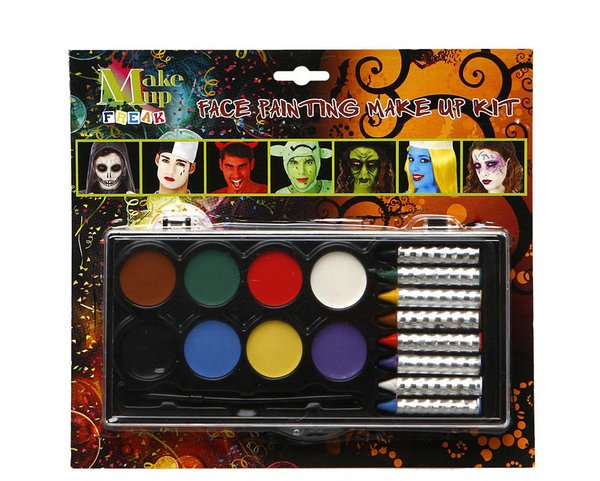 Makeup Face Paint Oil Base & Crayons 8 Colours SFX
