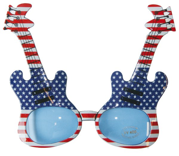 Party Glasses Guitar Asstd Music Band Instrument