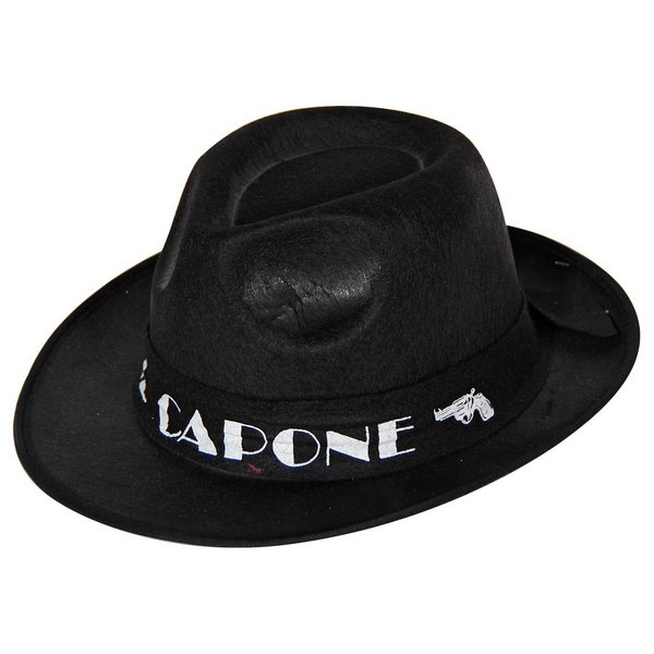 Hat Al Capone Black Gangster 20s 30s Mob Al