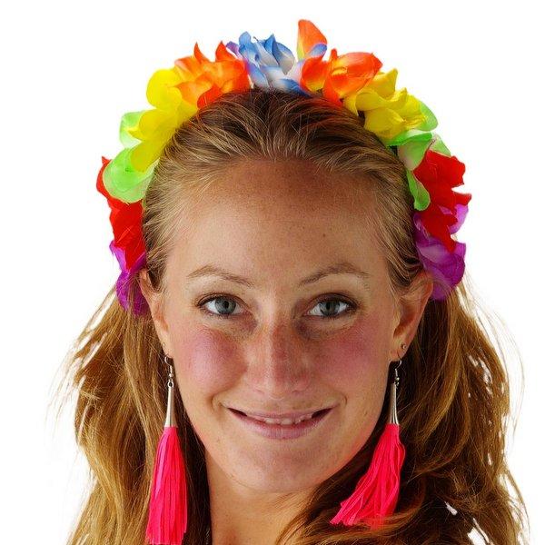 Tiara Hawaii Flower Band Asstd Princess Fairy Queen