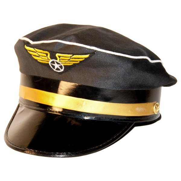 Hat Pilot Blue & Gold Band Airman Air Crew Captain Biggles WWII Officer