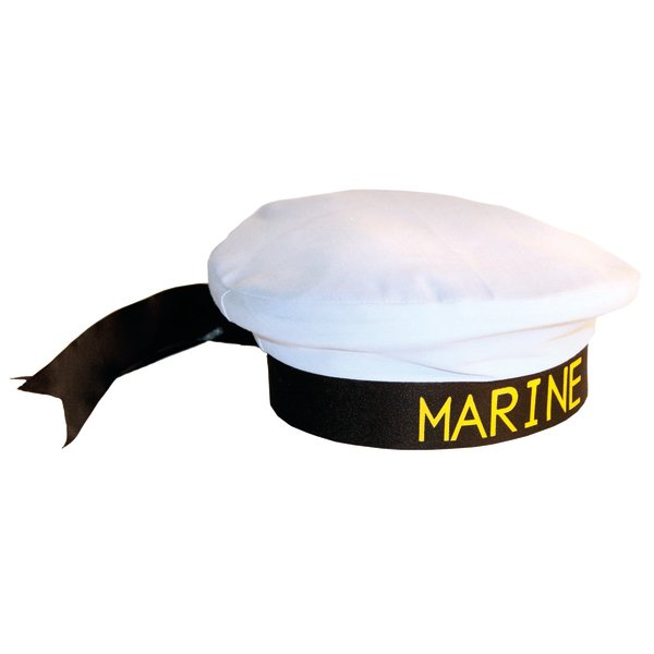 Hat Sailor with Ribbon Navy Crew Military Seaman
