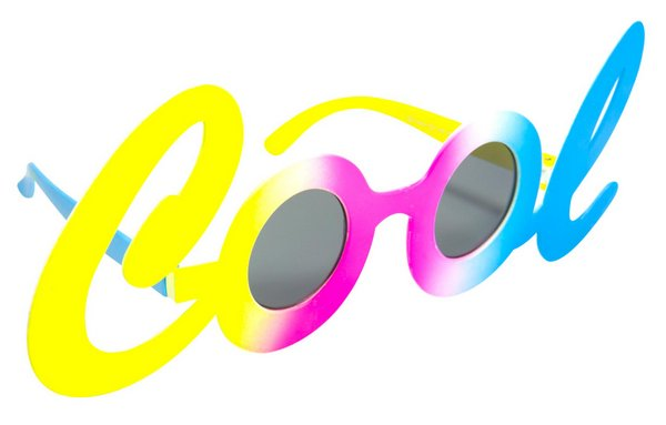 Party Glasses Mr COOL in Letters 60s 70s Hippie Mod