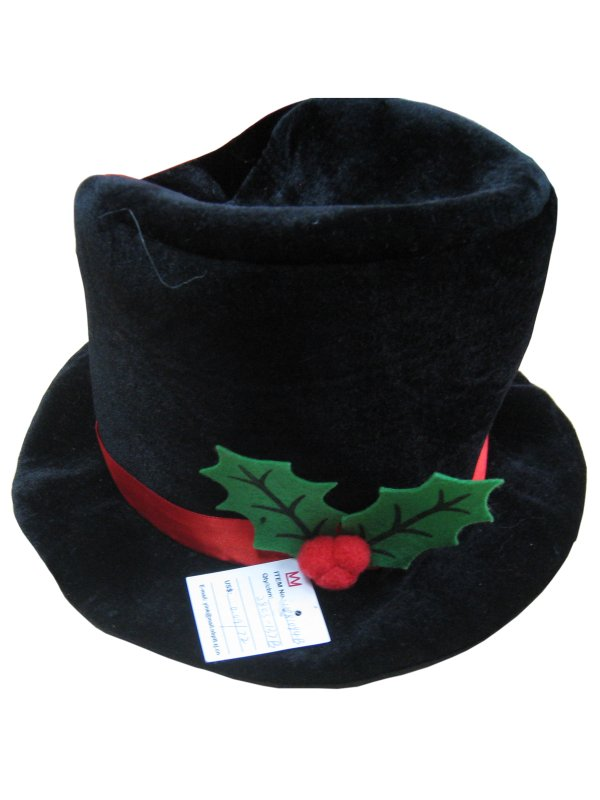 Snowman Black Top Hat With Decoration Frozen Arctic Christmas nativity