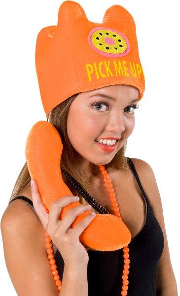 Hat Telephone with Handle Marathon Charity Fundraiser Athlete Runner 70s 80s