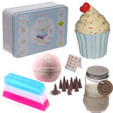 Cupcake gift set in a Tin for girls ideal christmas or birthday present