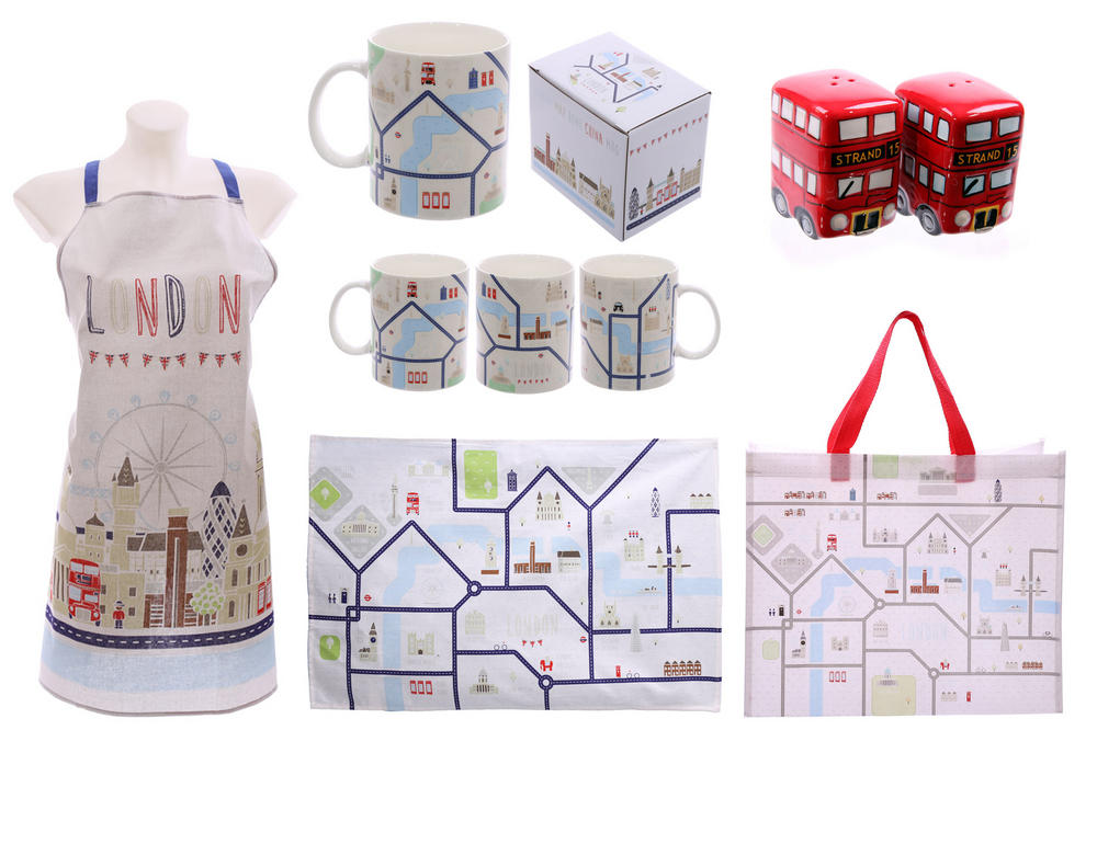 GB London Map Kitchen Gift set for Ladies ideal christmas or ...