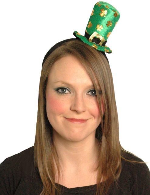 Ladies St Patrick's Day Mini Hat / Headband for Ireland Irish National Accessory