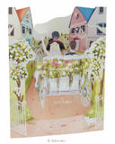 Deluxe 3D Wedding Card Wedding Day Carriage Marriage Swing Pop Up Greeting Card