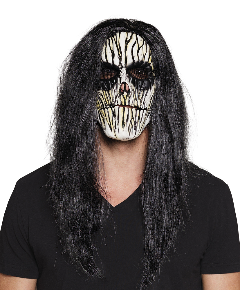 Mens Latex Mask w/ Hair Accessory for KISS Jungle Magic Halloween Fancy Dress