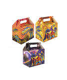 Childrens Super Hero Birthday Party Lunch Boxes for Kids Party Bags Toys & Favor