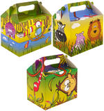Childrens Jungle Animals Birthday Party Lunch Boxes for Kids Party Bag Toys Cake