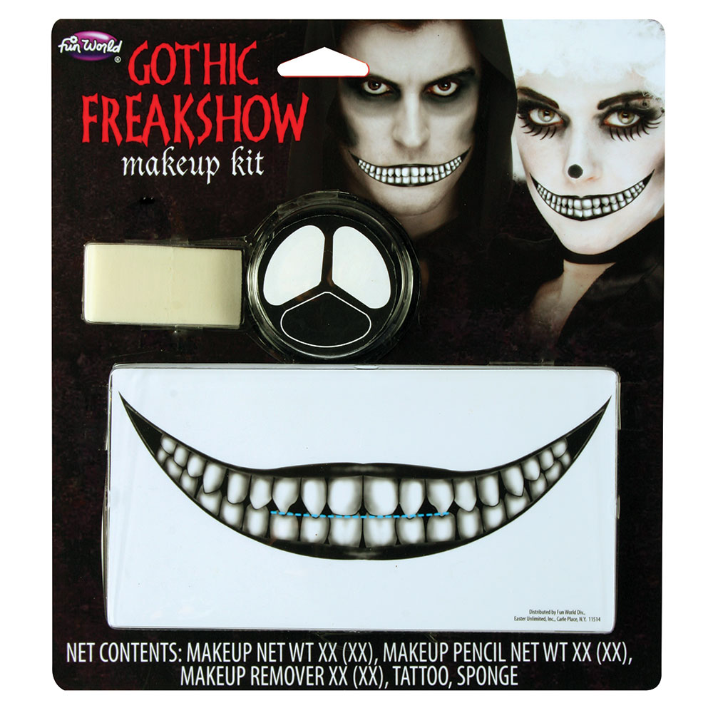 Gothic Freakshow Makeup Set Emo Goth Vampire Halloween Fancy Dress Cosplay