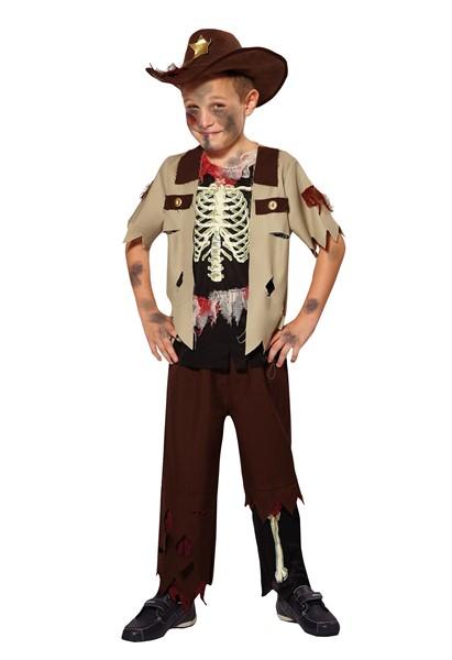 Boys Skeleton Sheriff Costume Day of the Dead Halloween Fancy ...