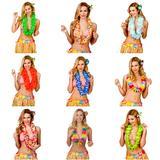 100 Hawaiian Lei's for Mens & Ladies Hawaii Tropical Fancy Dress Costume Accesso