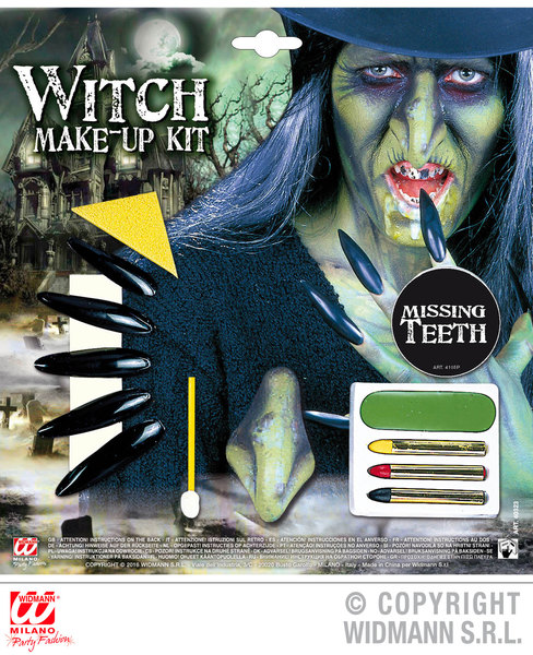 WITCH MAKE UP SET WITH ACCESSORIES SFX for Halloween Oz Eastwick Cosmetics