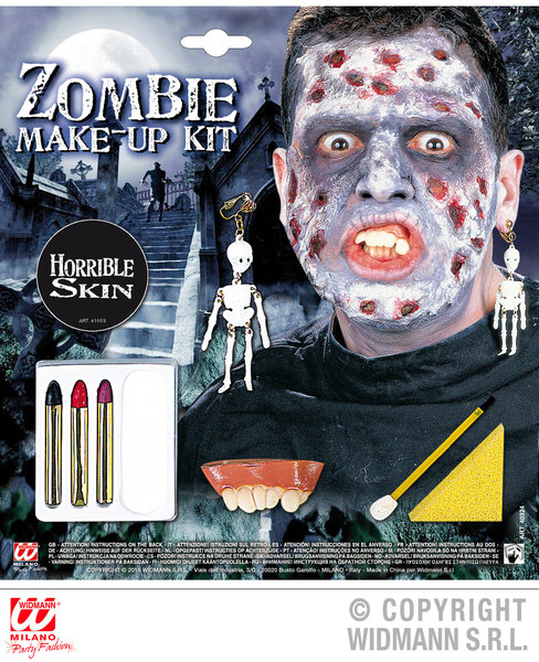 ZOMBIE MAKE UP SET WITH ACCESSORIES SFX for TWD Halloween Living Walking Dead Cosmetics