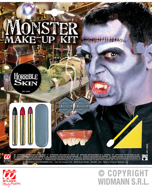 MONSTER MAKE UP SET WITH ACCESSORIES SFX for Halloween Cosmetics