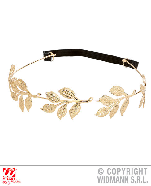ROMAN GOLD LAUREL HEADWREATH Accessory for Ancient Rome Greek Latin Fancy Dress