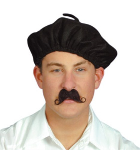 French Beret for France Mime Fancy Dress Accessory