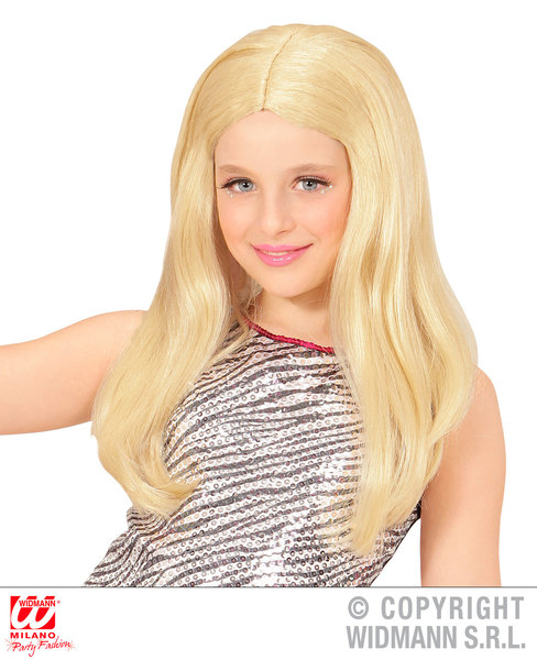BLONDE HANNAH WIG in polybag Ladies 90s Accessory for 90s Brit Pop Retro Fancy Dress Adults Female